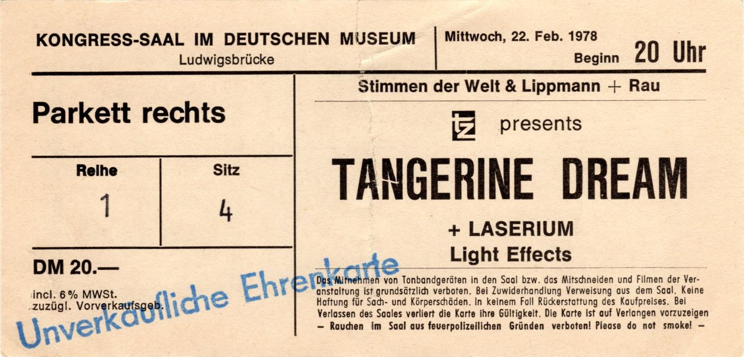 Ticket From The Munich Concert